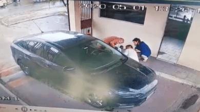 Foto de Policial age rápido e ajuda a salvar bebê afogado; veja o vídeo