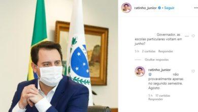 Photo of Governador do Paraná descarta retorno das aulas nas escolas particulares antes de agosto