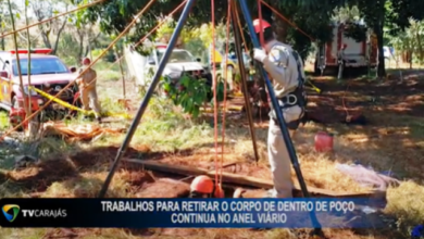 Foto de TV Carajás acompanha trabalhos para retirada de corpo em chácara; vídeo