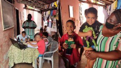 Photo of Colegas se unem e ajudam mãe e 5 filhos que dormiam no chão